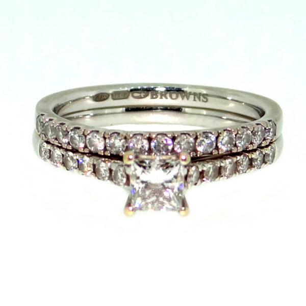 Diamond Engagement & wedding ring set